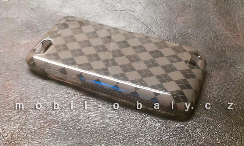 Pouzdro SES na mobil HTC One V silikonový obal hnědý brown