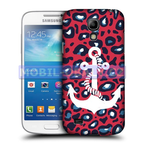 HEAD CASE pouzdro na mobil Samsung galaxy S4 mini námořncká kotva červená