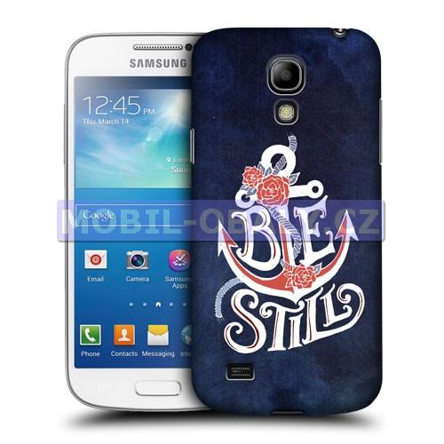 HEAD CASE pouzdro na mobil Samsung galaxy S4 mini námořncká kotva modrá barva růže