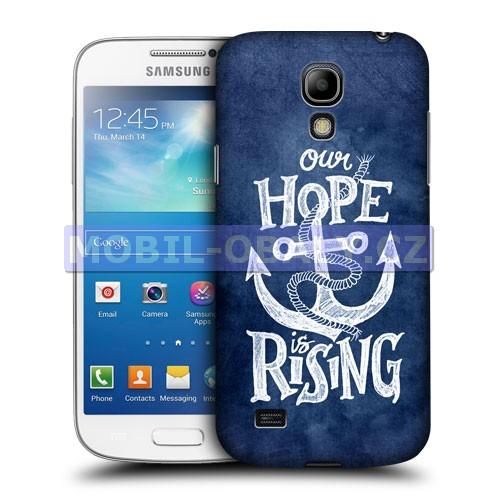 HEAD CASE pouzdro na mobil Samsung galaxy S4 mini námořncká kotva modrá naděje