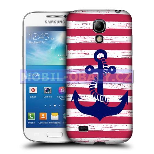 HEAD CASE pouzdro na mobil Samsung galaxy S4 mini námořncká kotva červená a bílá