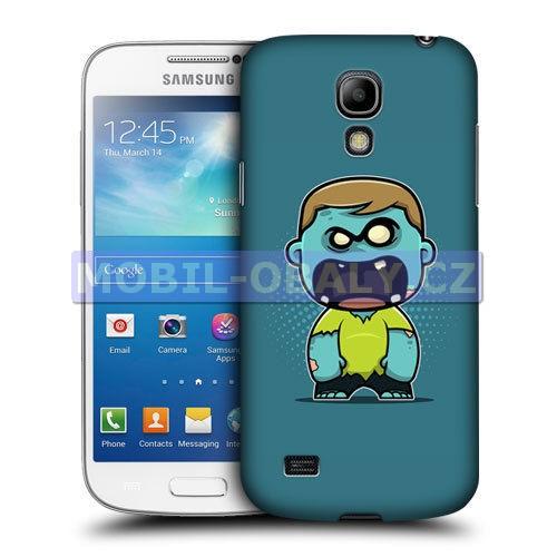 HEAD CASE pouzdro na mobil Samsung galaxy S4 mini modrá barva zombie