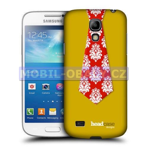 HEAD CASE pouzdro na mobil Samsung galaxy S4 mini červená kravata
