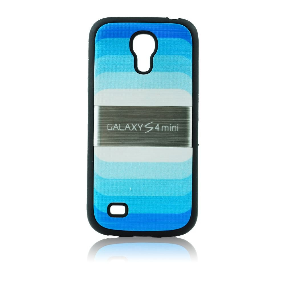 Obal BLUN na mobil Samsung galaxy S4 MINI i9195/i9190 modré pruhy