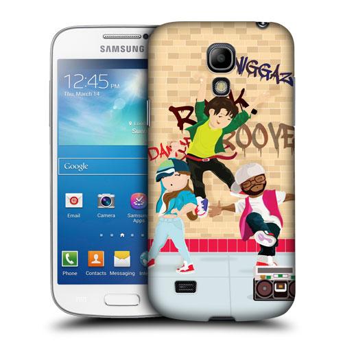 HEAD CASE pouzdro na mobil Samsung galaxy S4 mini taneční téma hip hop