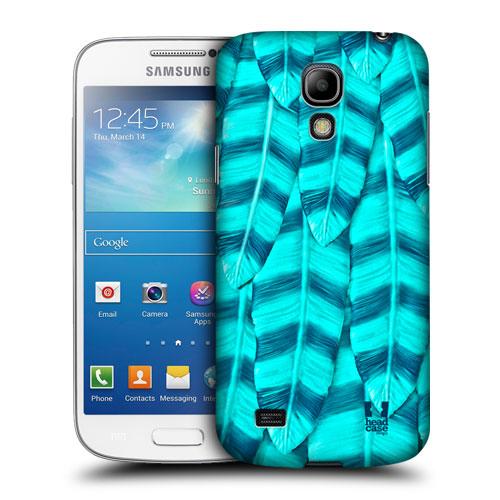 HEAD CASE pouzdro na mobil Samsung galaxy S4 mini modrá peříčka