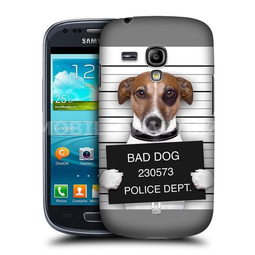 HEAD CASE pouzdro na mobil Samsung galaxy S3 mini legrační zvířátka pes u výslechu
