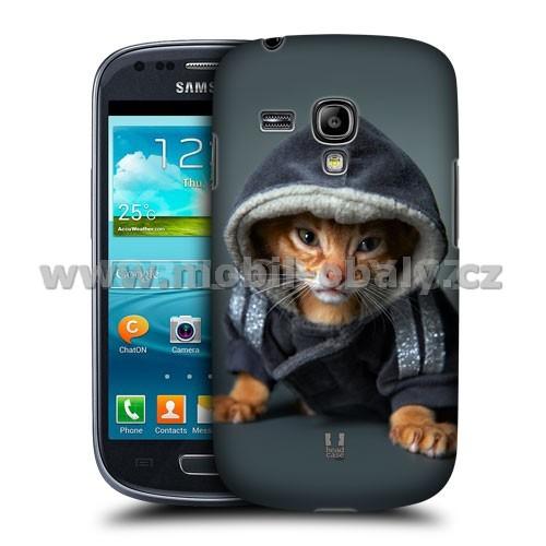 HEAD CASE pouzdro na mobil Samsung galaxy S3 mini legrační kotě v župánku