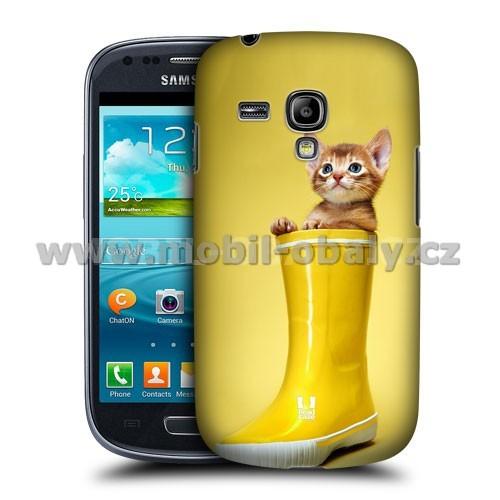 HEAD CASE pouzdro na mobil Samsung galaxy S3 mini legrační zvířátka kotě v botě