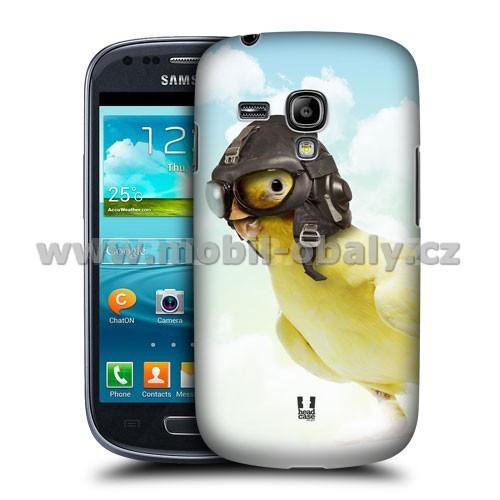 HEAD CASE pouzdro na mobil Samsung galaxy S3 mini legrační zvířátka ptáček letec