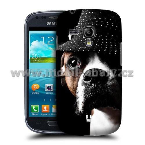 HEAD CASE pouzdro na mobil Samsung galaxy S3 mini legrační zvířátka pejsek mafián