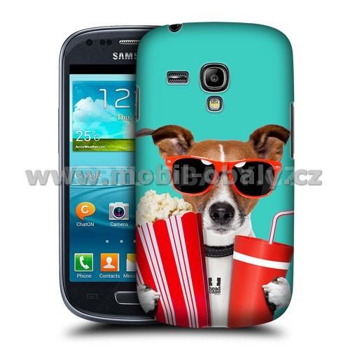 HEAD CASE pouzdro na mobil Samsung galaxy S3 mini legrační zvířátka pejsek v kině