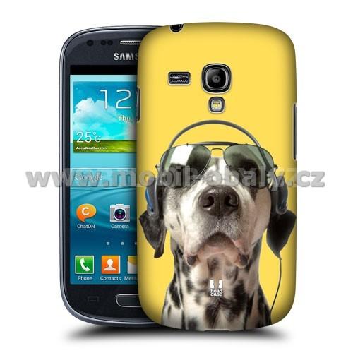 HEAD CASE pouzdro na mobil Samsung galaxy S3 mini legrační zvířátka pejsek DJ