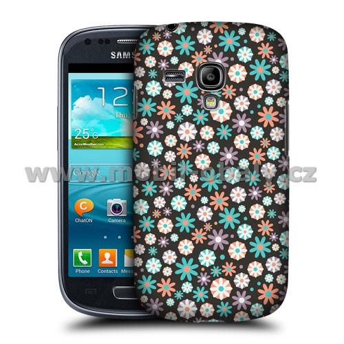 HEAD CASE pouzdro na mobil Samsung galaxy S3 mini květinový vzor kouzelná modrá růžová