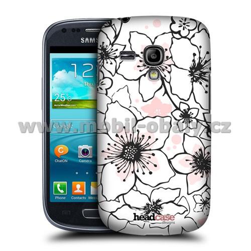 HEAD CASE pouzdro na mobil Samsung galaxy S3 mini kouzelné květiny jarní vzor