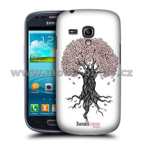 HEAD CASE pouzdro na mobil Samsung galaxy S3 mini kouzelné květiny růžový strom