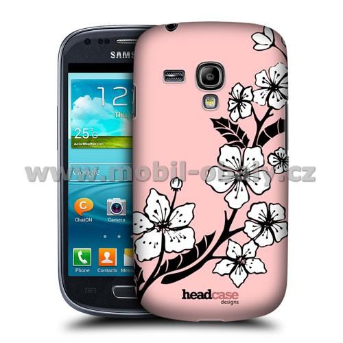 HEAD CASE pouzdro na mobil Samsung galaxy S3 mini kouzelné květiny rostoucí květina růžová