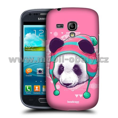 HEAD CASE pouzdro na mobil Samsung galaxy S3 mini kreslená zvířata růžová panda