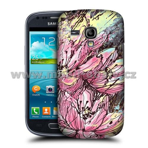 HEAD CASE pouzdro na mobil Samsung galaxy S3 mini kreslená květina růžová