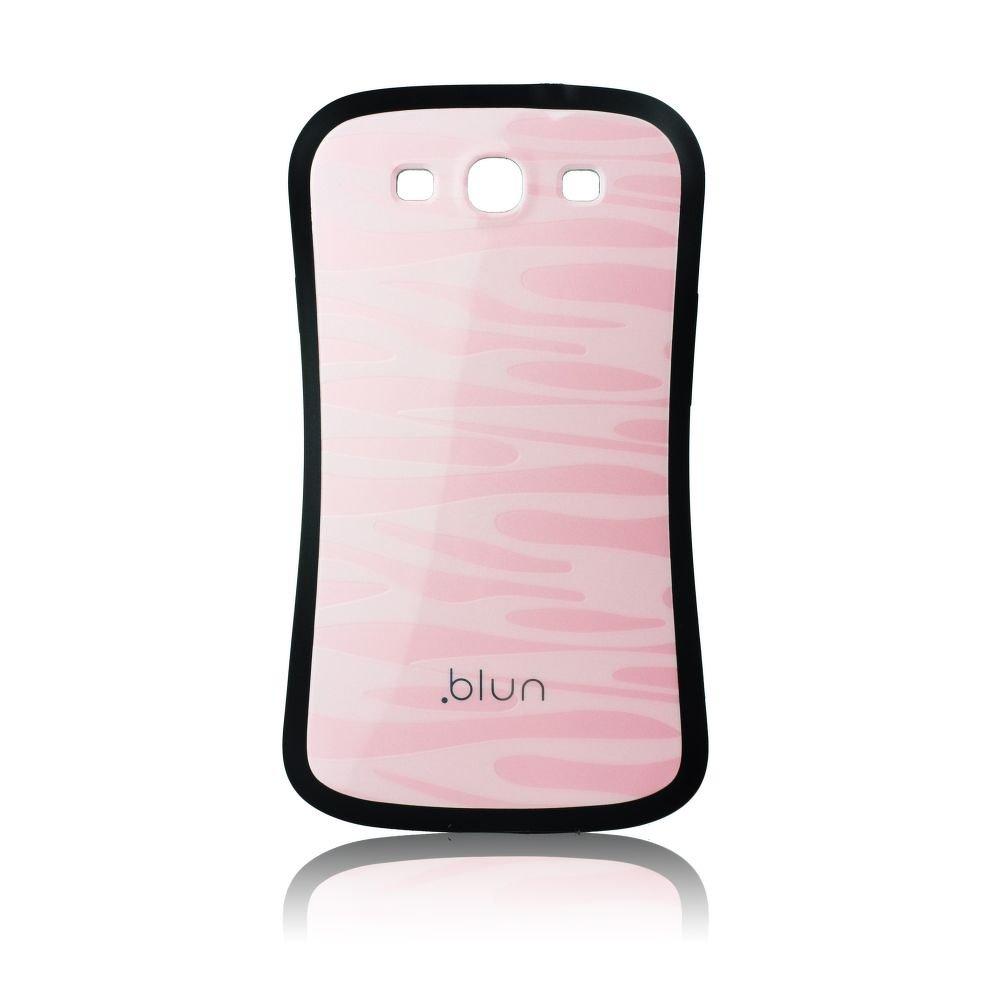 Obal BLUN na mobil Samsung Galaxy S3 i9300 pevný růžová vzorkovaná barva