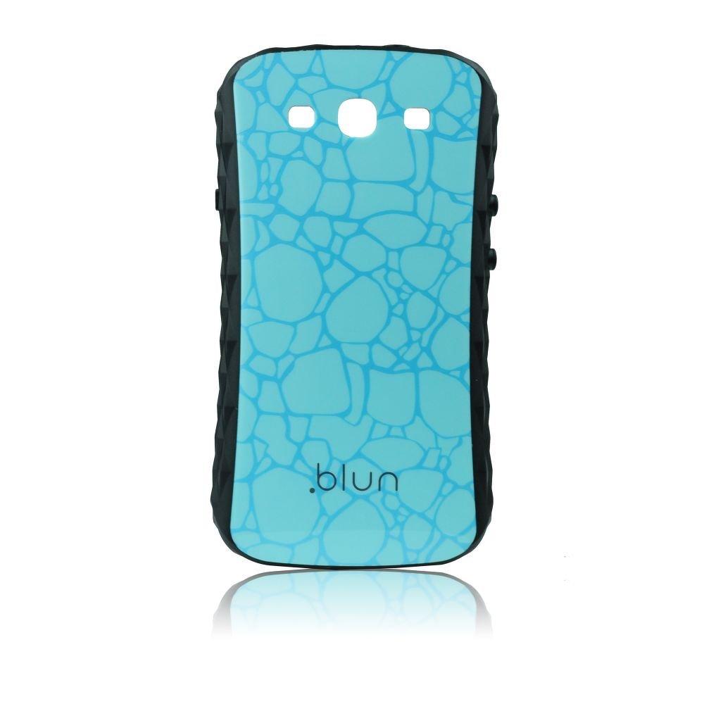 Obal na mobil Samsung Galaxy S3 i9300 pevný modrá vzorkovaná barva značky BLUN