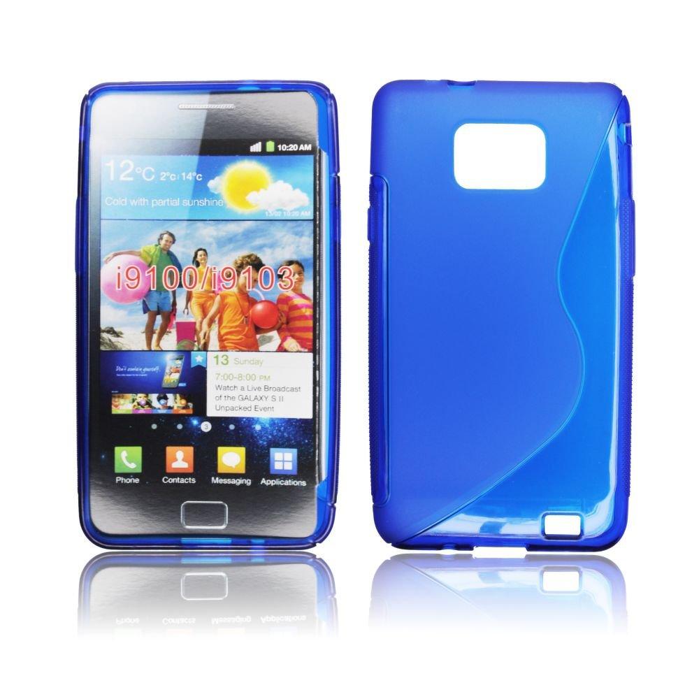 Obal Samsung i9100 Galaxy S2 silikon modrá barva
