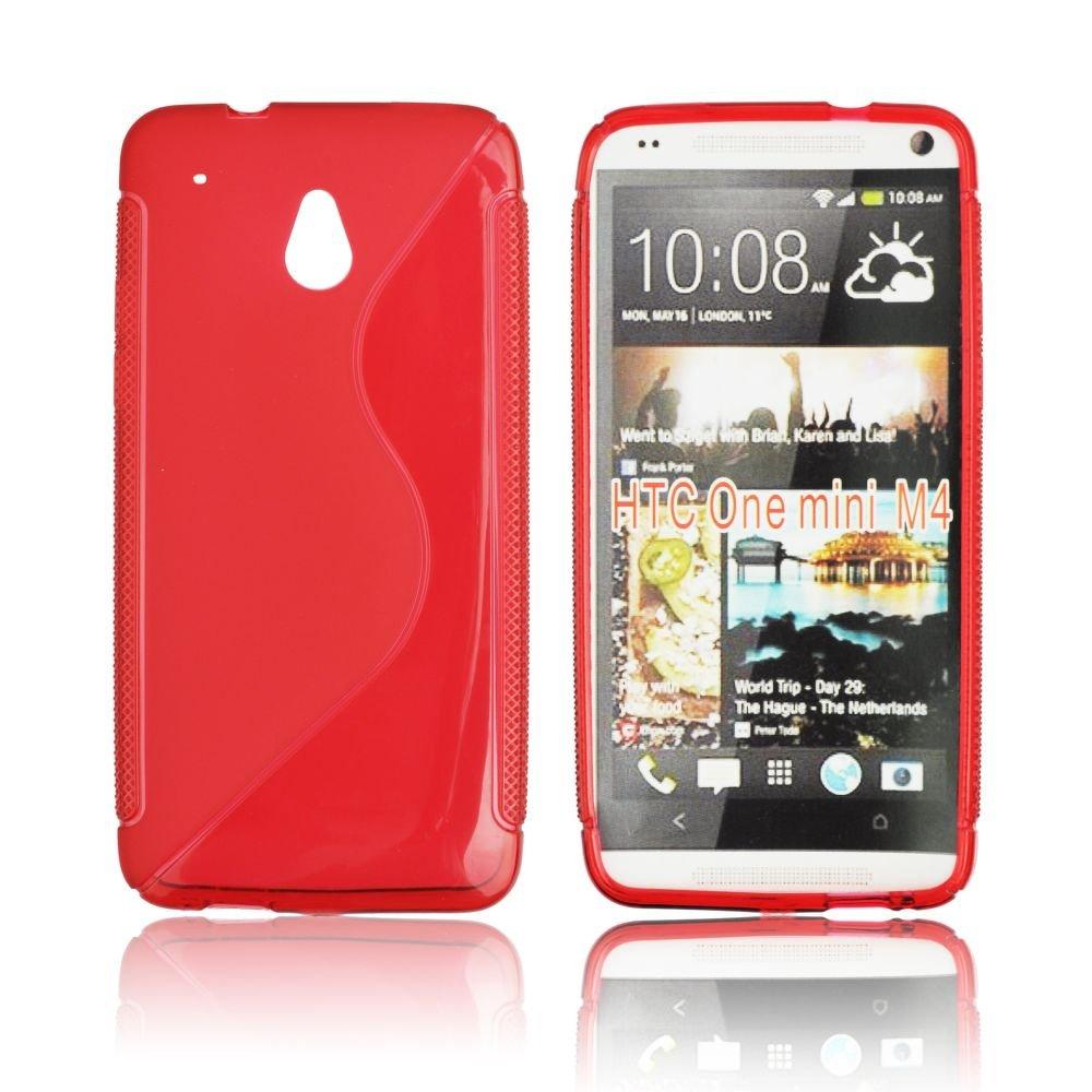 Obal na mobil HTC one MINI červený silikon