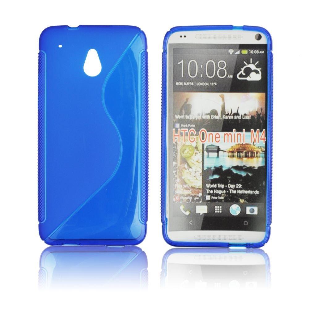 Obal na mobil HTC one MINI modrý silikon