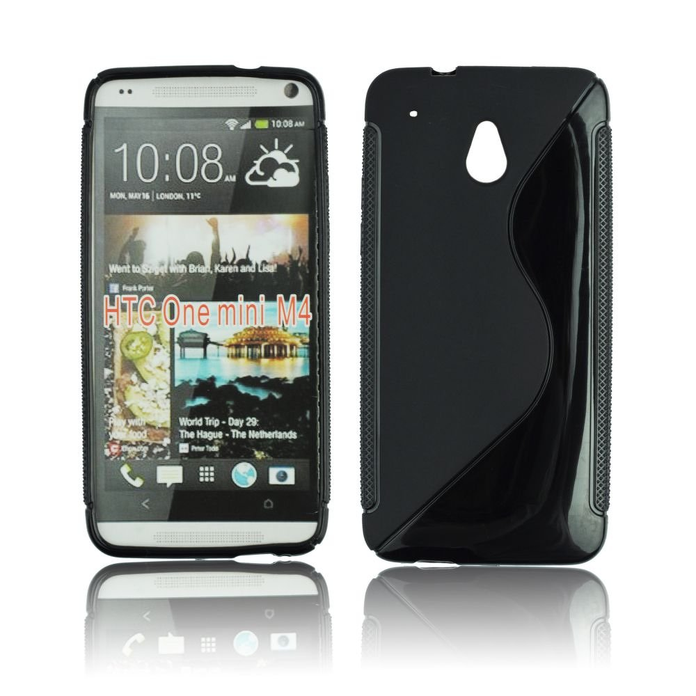 Obal na mobil HTC one MINI černý silikon