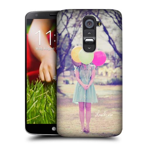 HEAD CASE pouzdro na mobil LG G2 vzor barevné balónky děvče skrytá tvář