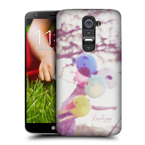 HEAD CASE pouzdro na mobil LG G2 vzor barevné balónky NOSTALGIE