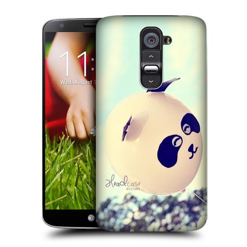 HEAD CASE pouzdro na mobil LG G2 vzor barevné balónky bílá PANDA