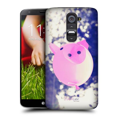 HEAD CASE pouzdro na mobil LG G2 vzor barevné balónky zvířátka růžové PRASÁTKO