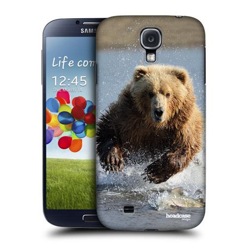 HEAD CASE pouzdro na mobil Samsung galaxy S4 příroda zvířata velký hnědý medvěd grizzly