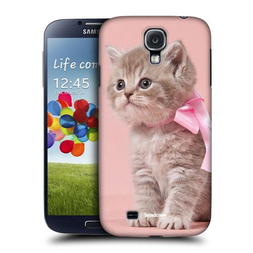 HEAD CASE pouzdro na mobil Samsung galaxy S4 příroda zvířata kočička růžová barva