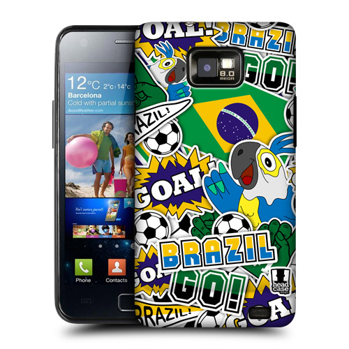 HEAD CASE obal na mobil Samsung Galaxy i9100 S2 mistrovství světa fotbal BRAZÍLIE