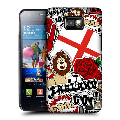 HEAD CASE obal na mobil Samsung Galaxy i9100 S2 mistrovství světa fotbal ANGLIE