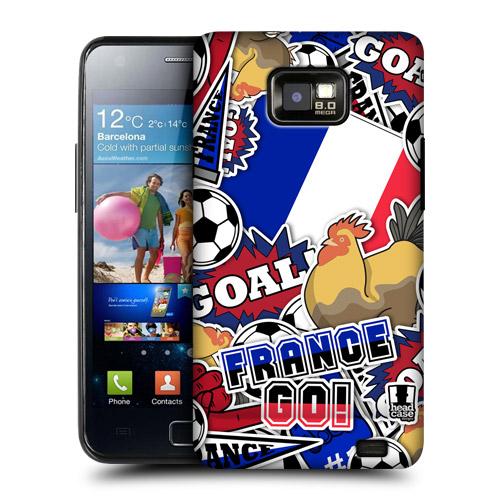 HEAD CASE obal na mobil Samsung Galaxy i9100 S2 mistrovství světa fotbal FRANCIE