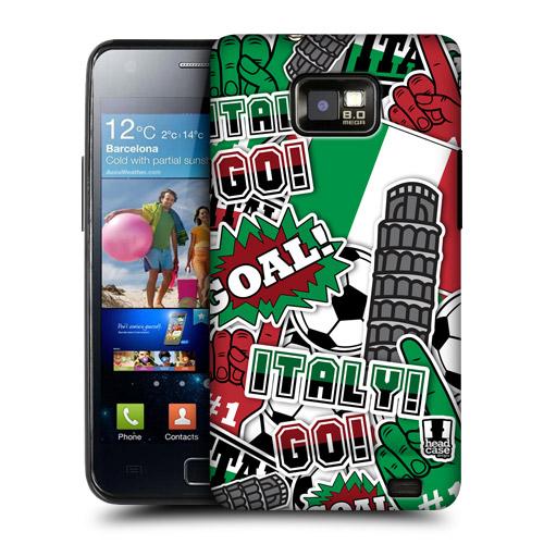 HEAD CASE obal na mobil Samsung Galaxy i9100 S2 mistrovství světa fotbal ITÁLIE
