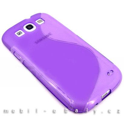 Pouzdro S-line na mobil Samsung Galaxy S3 / S3 NEO silikon fialová barva