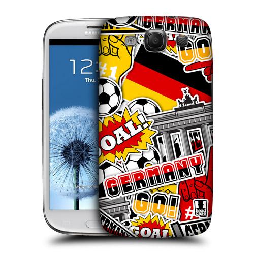 HEAD CASE obal na mobil Galaxy S3 i9300 mistrovství světa fotbal NĚMECKO