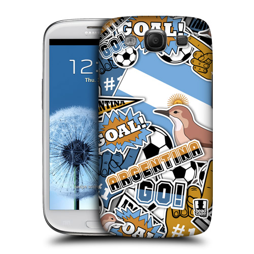 HEAD CASE plast obal na mobil Galaxy S3 i9300 mistrovství světa fotbal ARGENTINA
