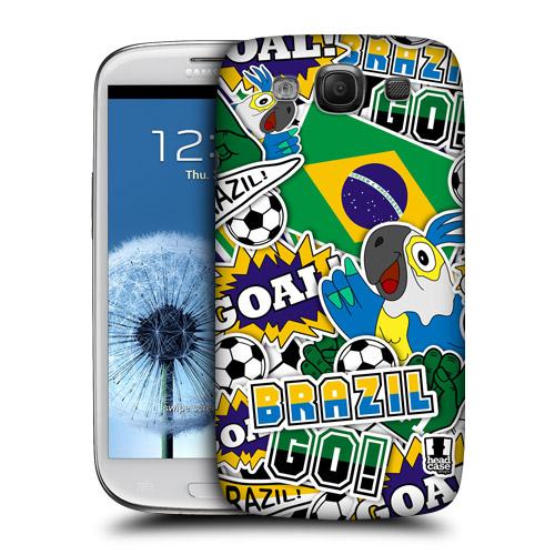 HEAD CASE obal na mobil Galaxy S3 i9300 mistrovství světa fotbal BRAZÍLIE