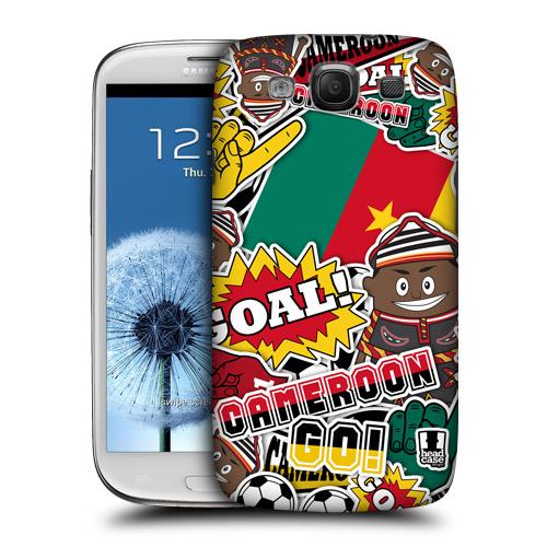 HEAD CASE obal na mobil Galaxy S3 i9300 mistrovství světa fotbal KAMERUN