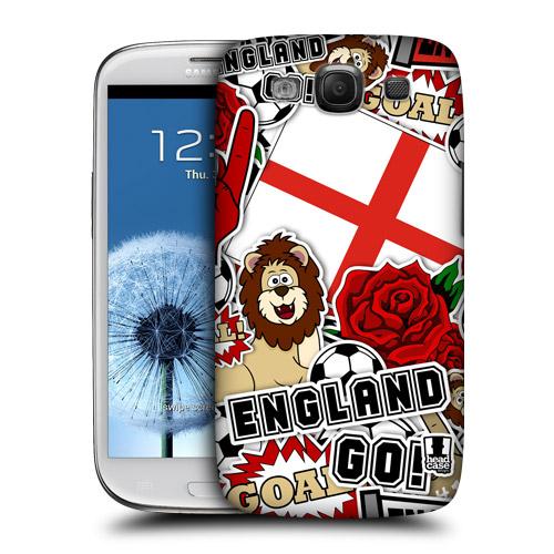 HEAD CASE obal na mobil Galaxy S3 i9300 mistrovství světa fotbal ANGLIE