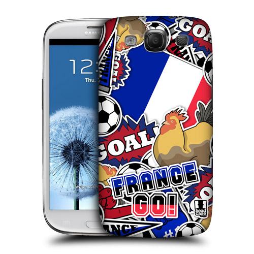 HEAD CASE obal na mobil Galaxy S3 i9300 mistrovství světa fotbal FRANCIE
