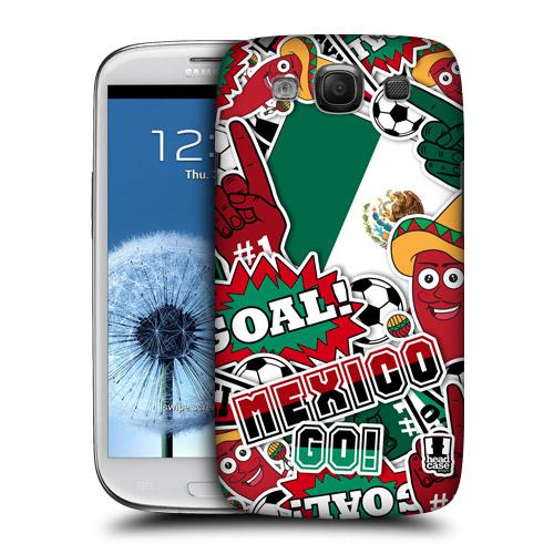 HEAD CASE obal na mobil Galaxy S3 i9300 mistrovství světa fotbal MEXIKO