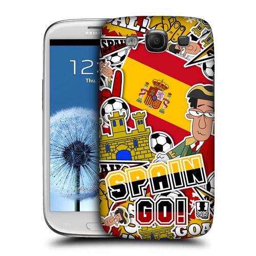 HEAD CASE obal na mobil Galaxy S3 i9300 mistrovství světa fotbal ŠPANĚLSKO