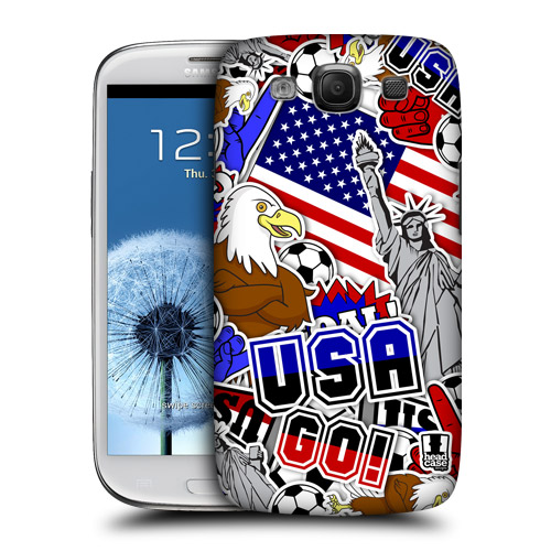 HEAD CASE obal na mobil Galaxy S3 i9300 mistrovství světa fotbal USA