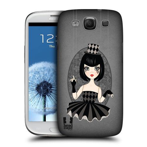HEAD CASE obal na mobil Samsung Galaxy i9300 S3 pevný plast černá barva malá tanečnice